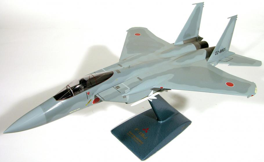 A model of a fighter jet plane.