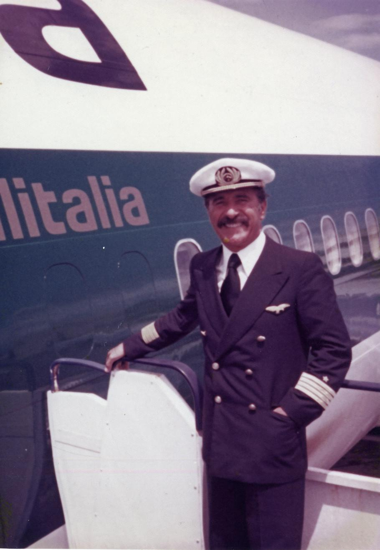 man in airline captain uniform