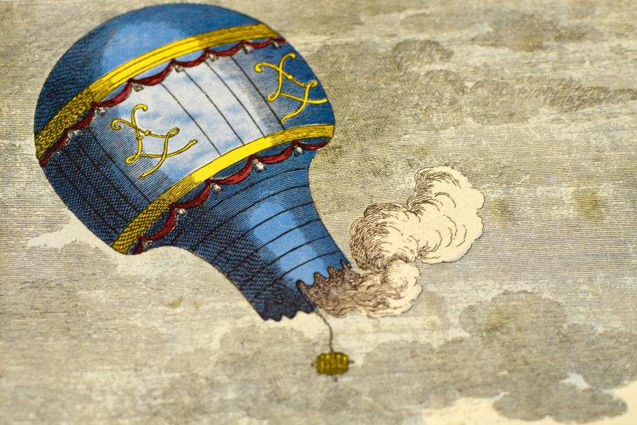 Colorful image of a blue balloon.