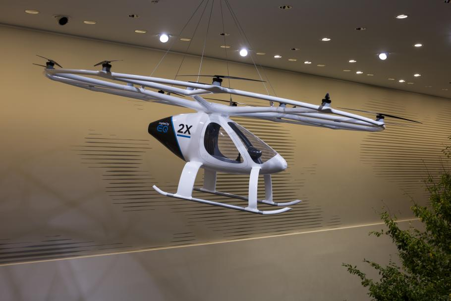 A model of the Volocopter 2X.