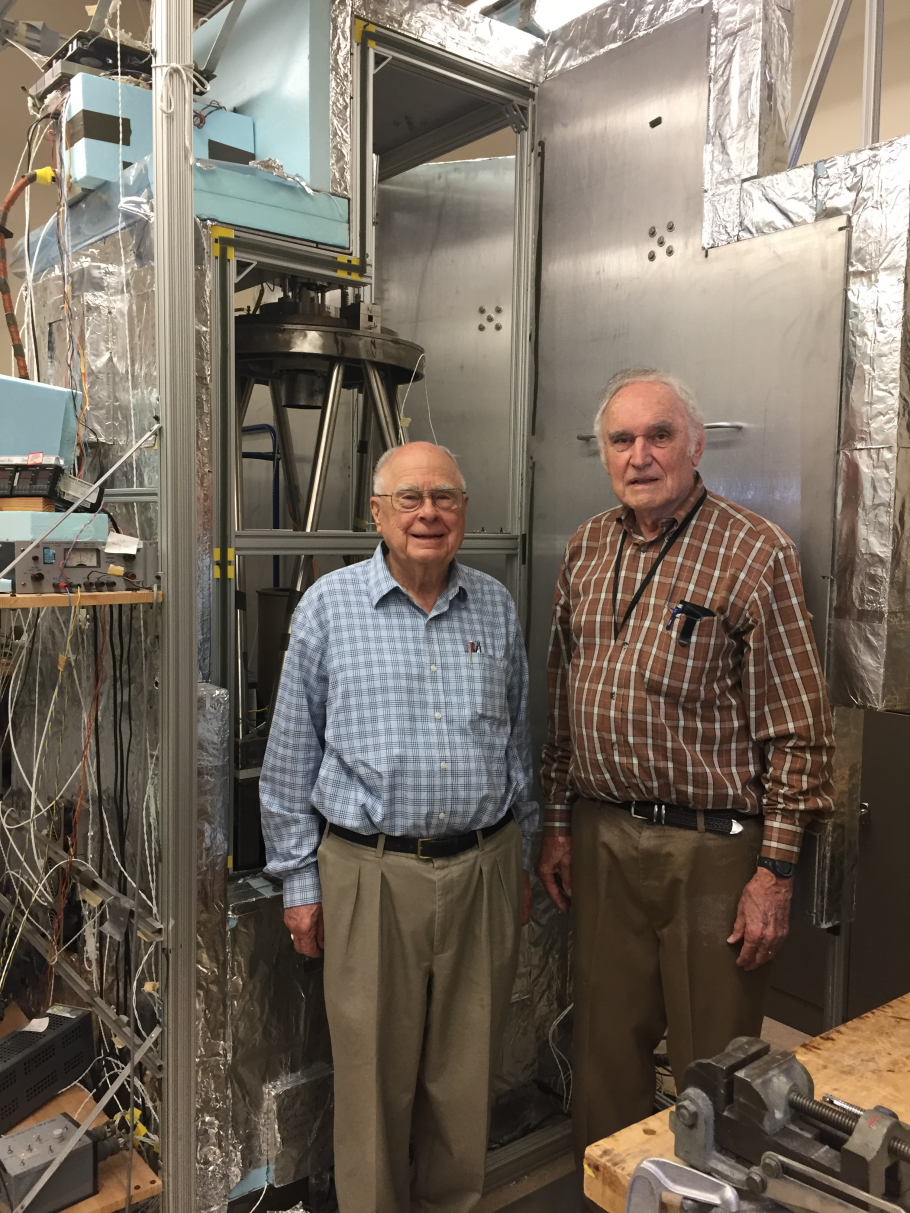 Scientists Bill Borucki and Fred Witteborn pictured at the NASA Ames Research Center in California, 2017.