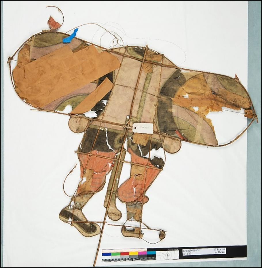 The back of a Chinese kite.