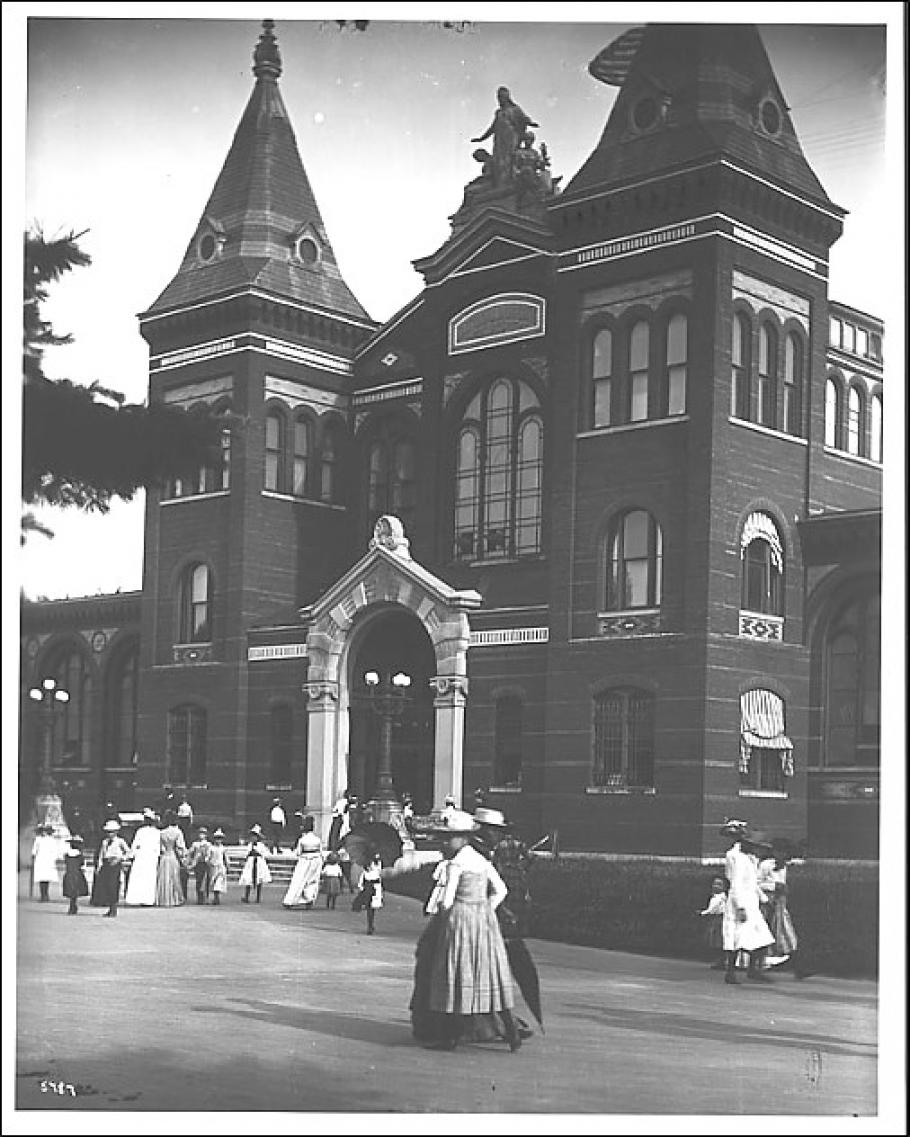Early 1900s view of the Smithsonian's Arts and Industries Building