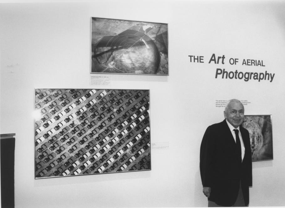 """Art Lundahl, a pioneer in aerial reconnaissance photo interpretation, in the """"Looking At Earth"""" gallery"""