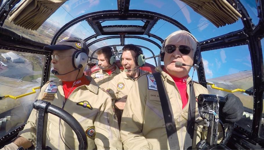 Leon Evans and David Rohrer fly the Canadian Warplane Heritage Museum's Avro Lancaster
