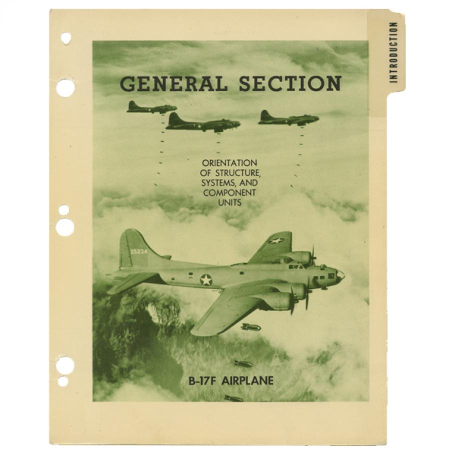 A manual cover for a B-17F