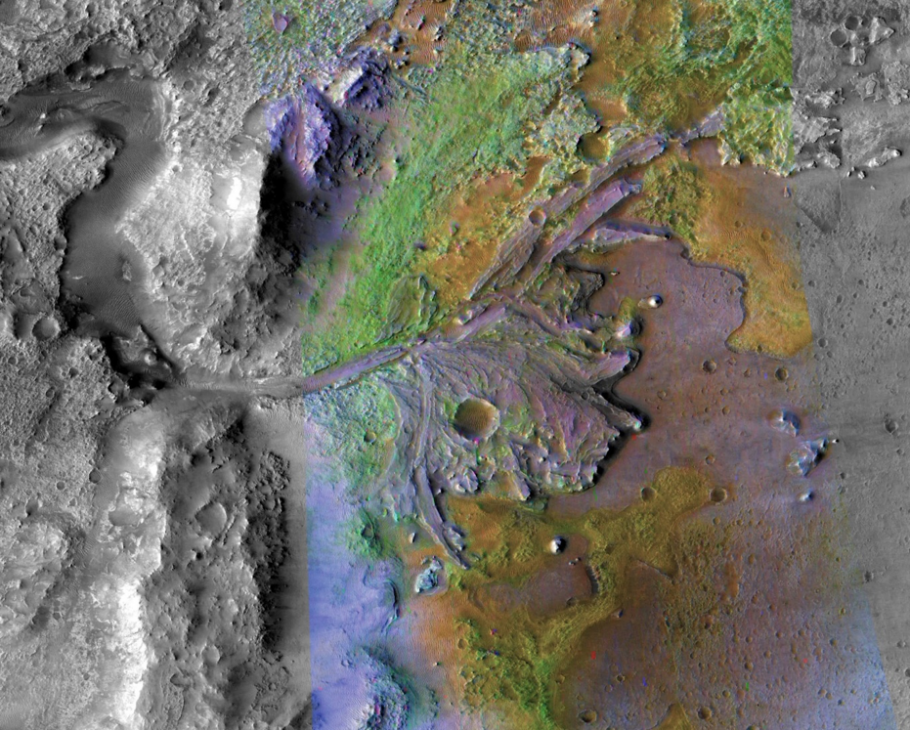 image of mars crater