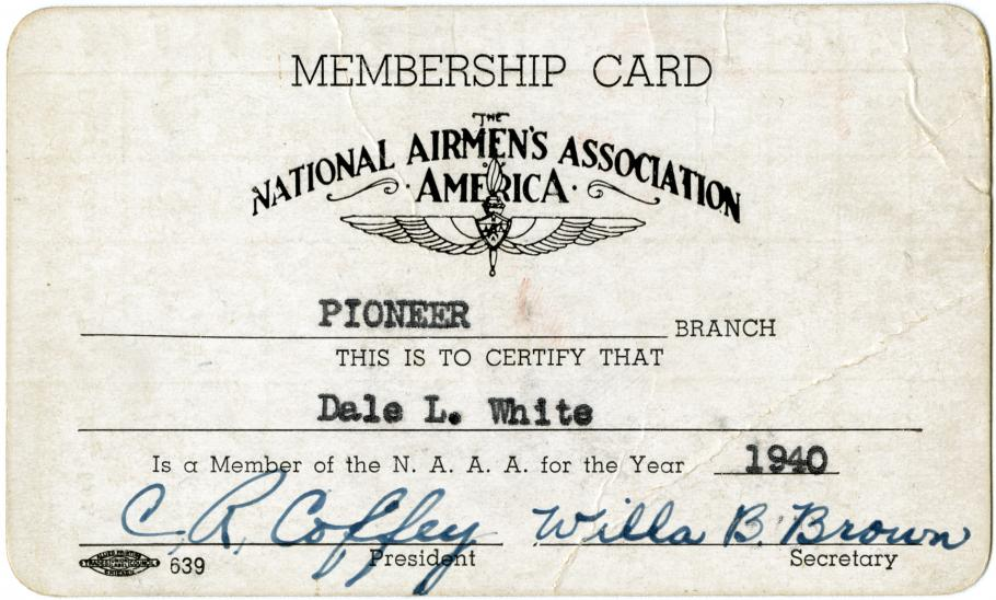 Small membership card.