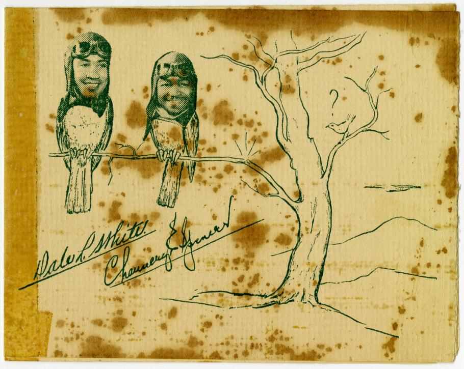 Photos of Dale White and Chauncey Spencer inserted on bird bodies