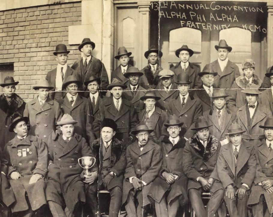 Rows of men, members of Alpha Phi Alpha