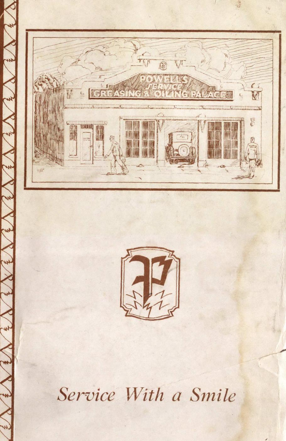 Image of service station from brochure