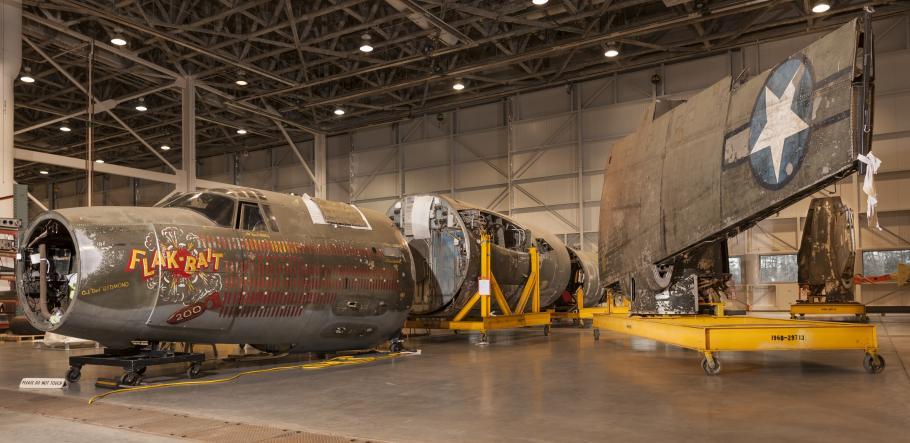 Flak-Bait in restoration hangar