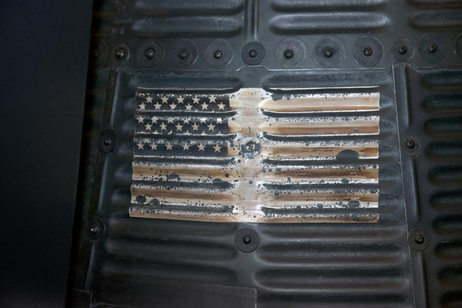 Close up of painted American Flag