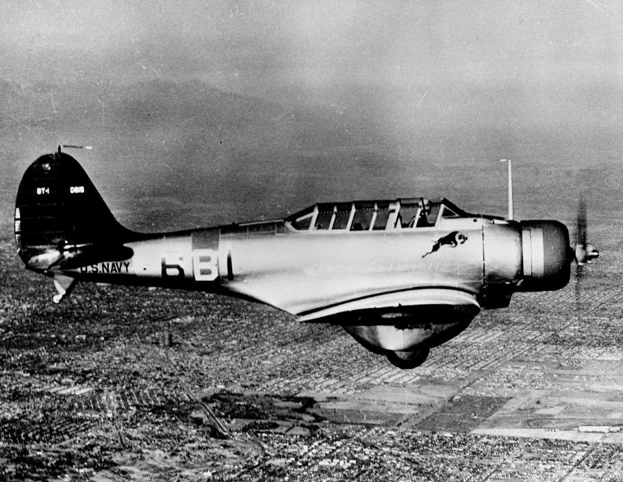 A U.S. Navy Northrop BT-1 (VB-6)