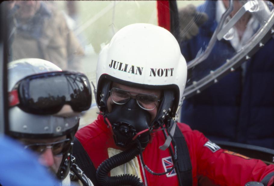 Julian Nott in Helmet