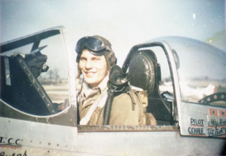 man in pilot's seat