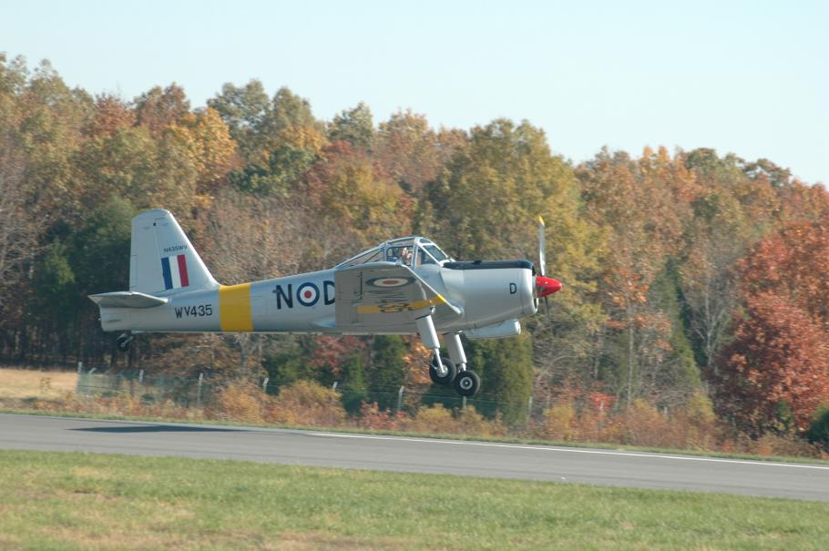 Michael Dale's Percival Provost, in the markings of the aircraft in which Dale first went solo.