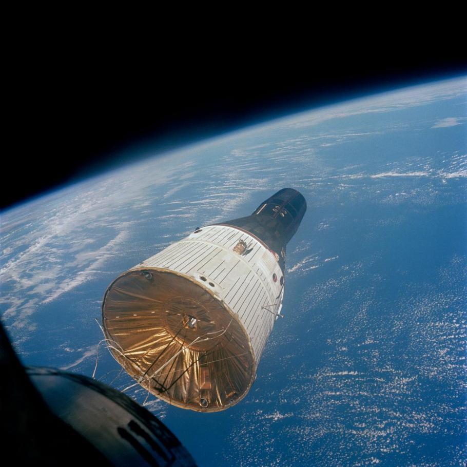 Gemini VII spacecraft seen from inside Gemini VI