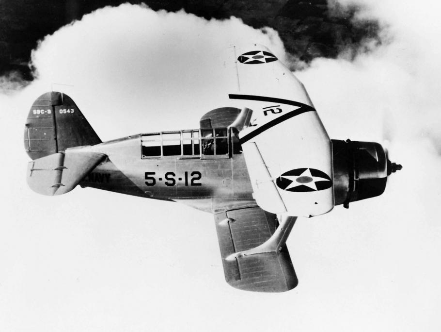 Curtiss SBC-3 Helldiver was the last biplane combat aircraft to see Navy service