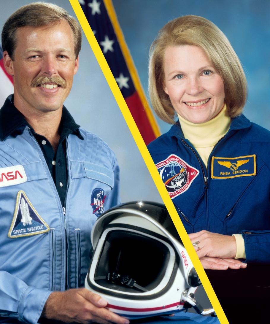 "NASA AstronautsRhea Seddon and Robert ""Hoot"" Gibson."