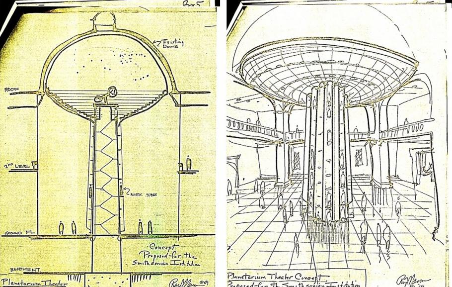 drawings of proposed planetariums