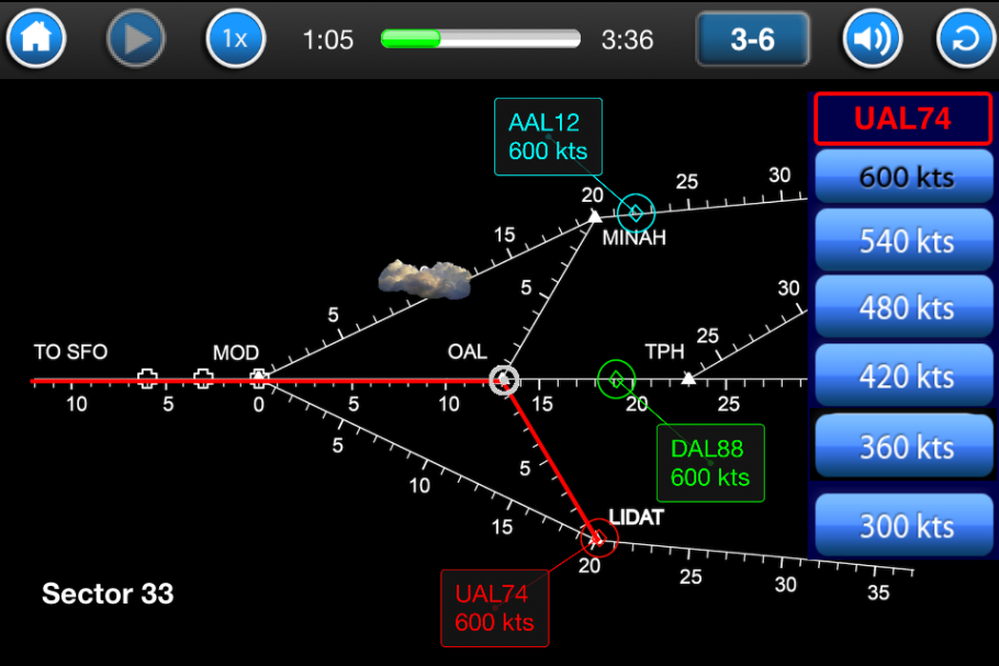 Screenshot of the Smart Skies computer program