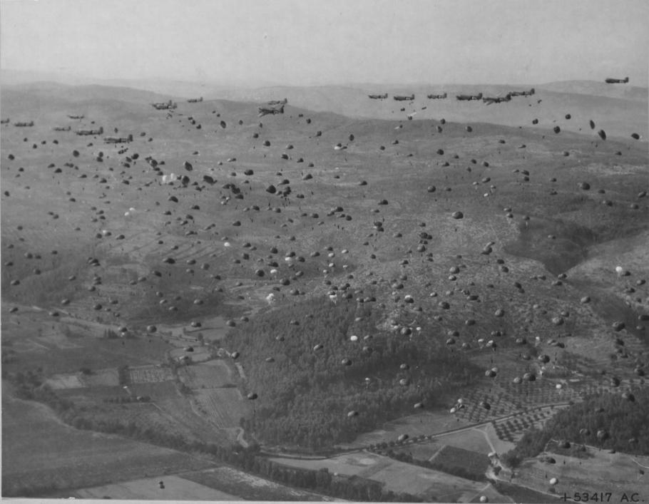 Paratroopers Over Southern France