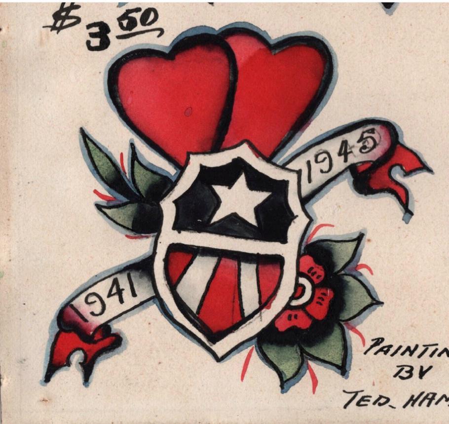 Tattoo flash art by Ted Hamilton