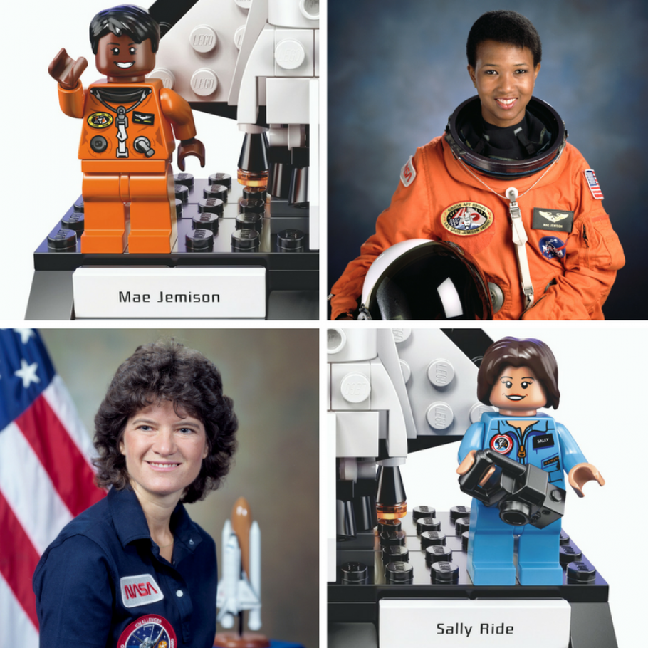 Photos of the women of NASA, Sally Ride and Mae Jemison.