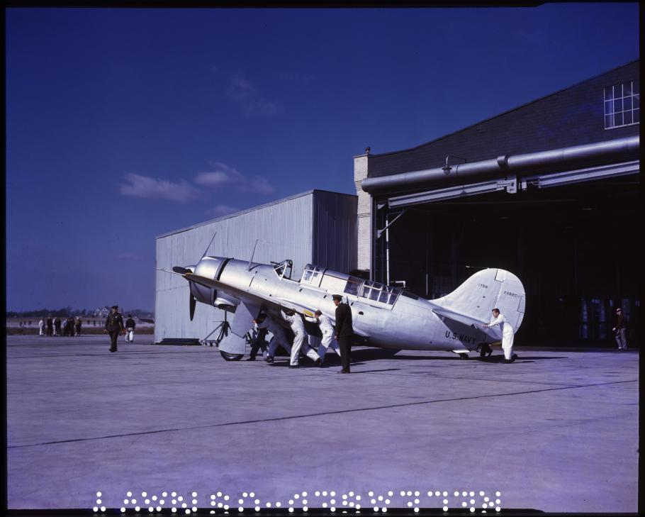 The XSB2C-1 Helldiver prototype with enlarged tail surfaces
