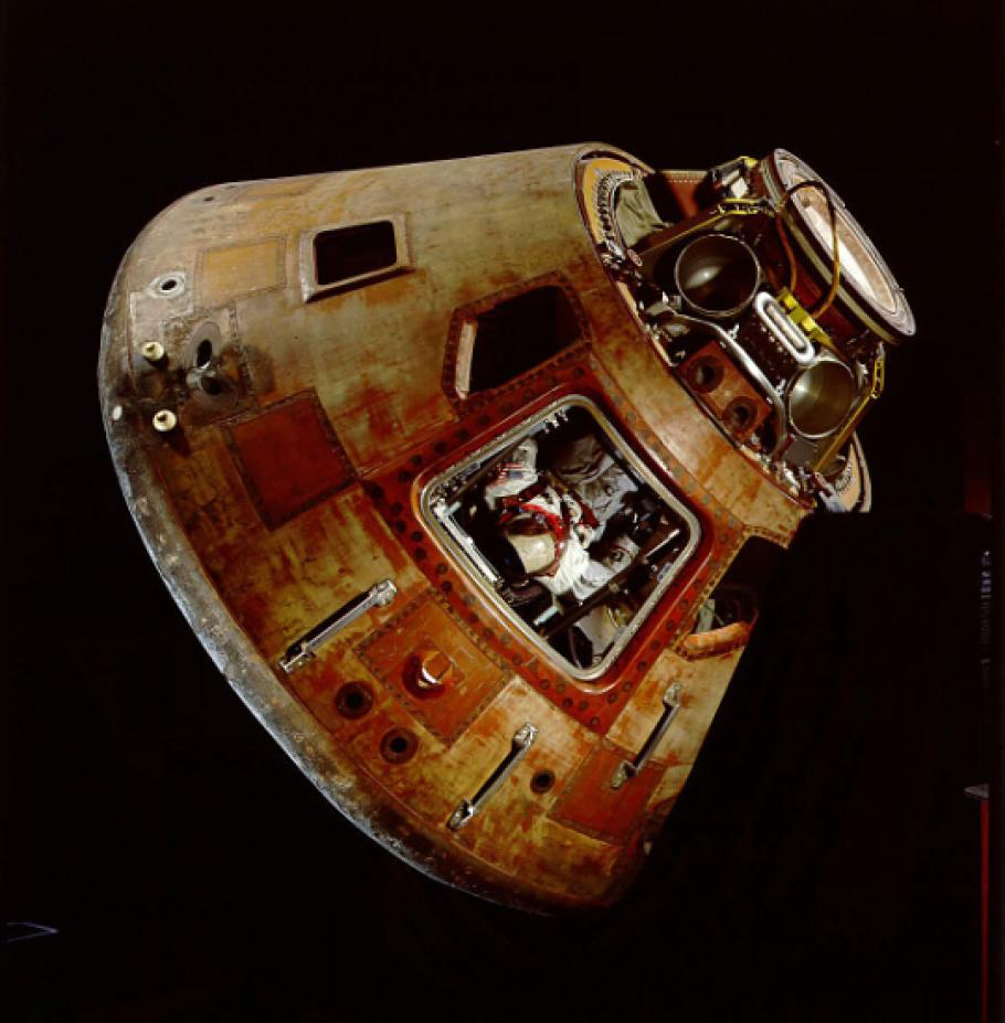 Apollo 11 command module used during the first manned lunar landing