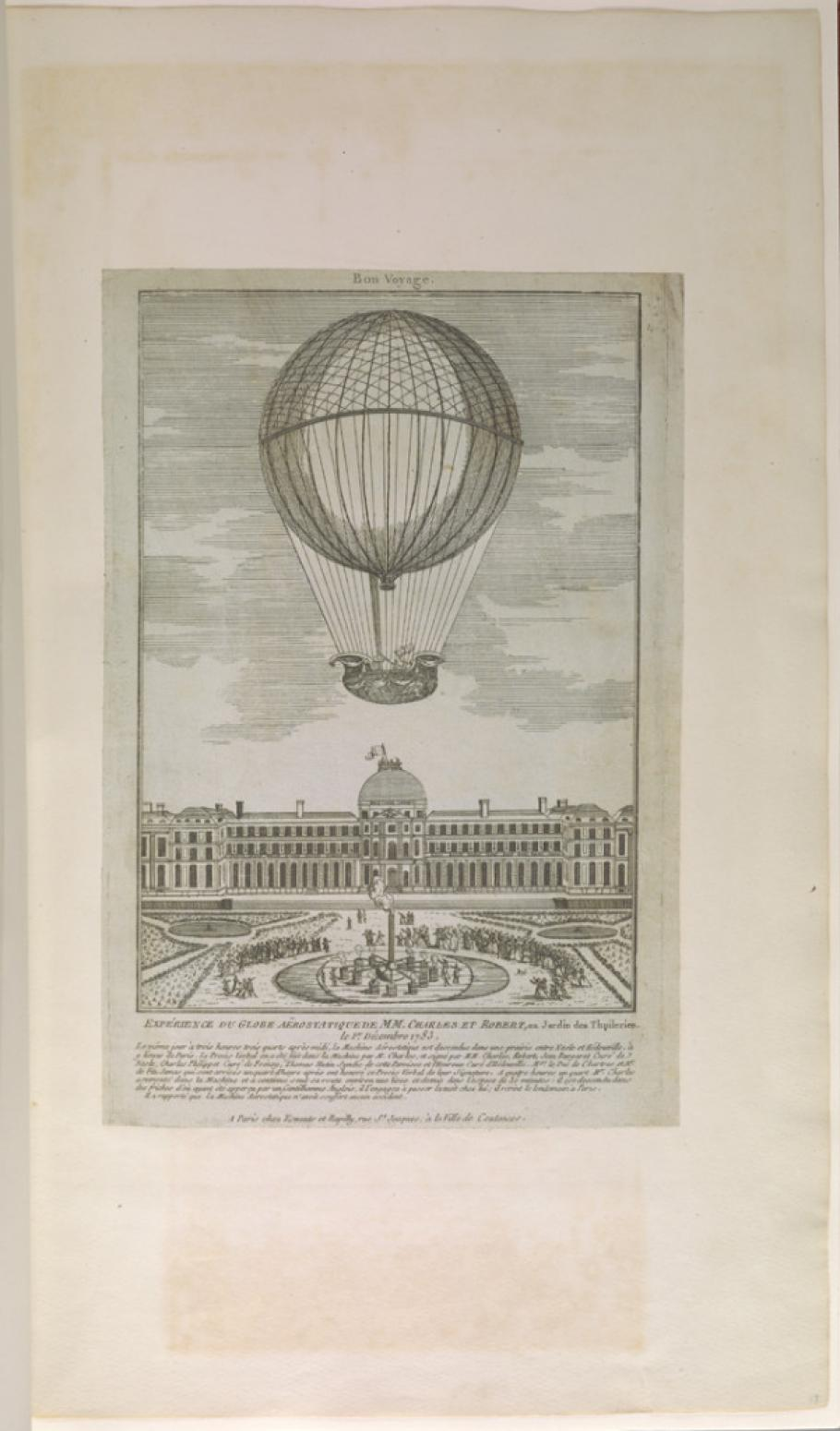 Illustration from William Upcott's Scrapbook of Early Aeronautica
