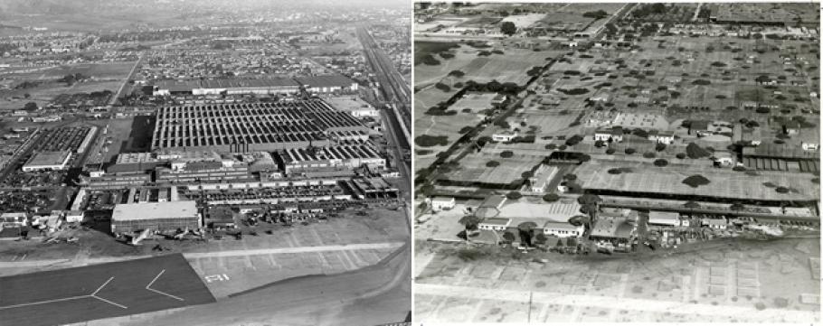 Image of Lockheed's Burbank plant