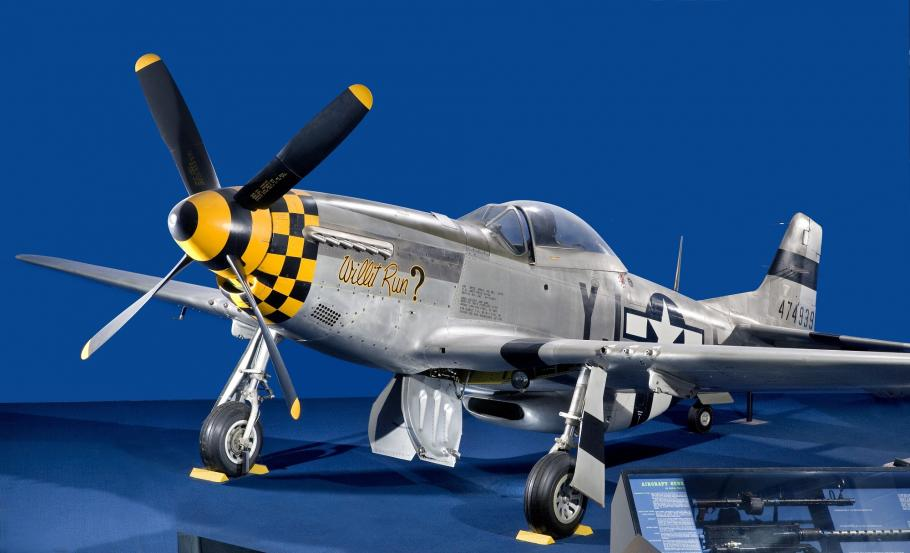 The P-51 Mustang became a long-range escort fighter for the U.S. Armed Forces against Nazi Germany.