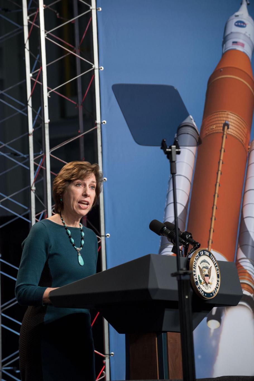 Dr. Ellen Ochoa, Director of the Johnson Space Center, 2017.