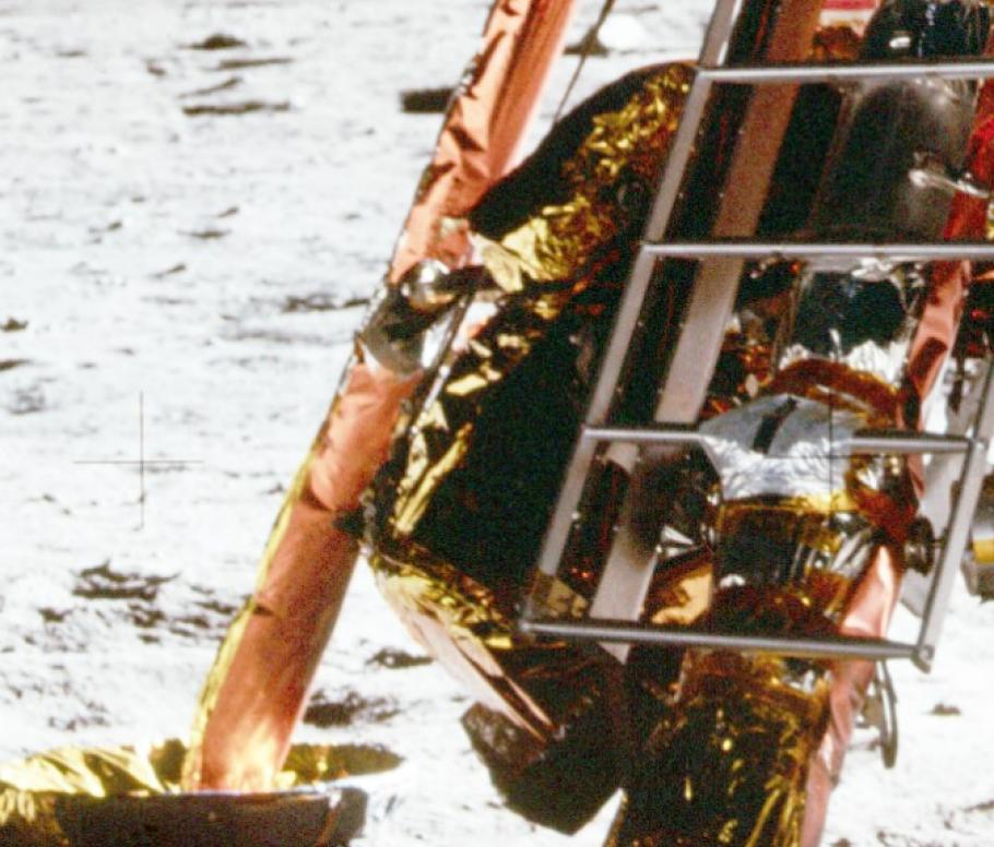 Close up of the spacecraft's MESA.