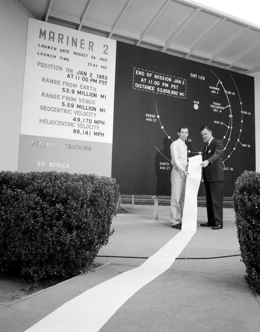 Reams of data radioed back to Earth by the Mariner 2 spacecraft