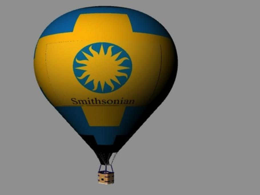 Rendering of the Smithsonian's hot air balloon.