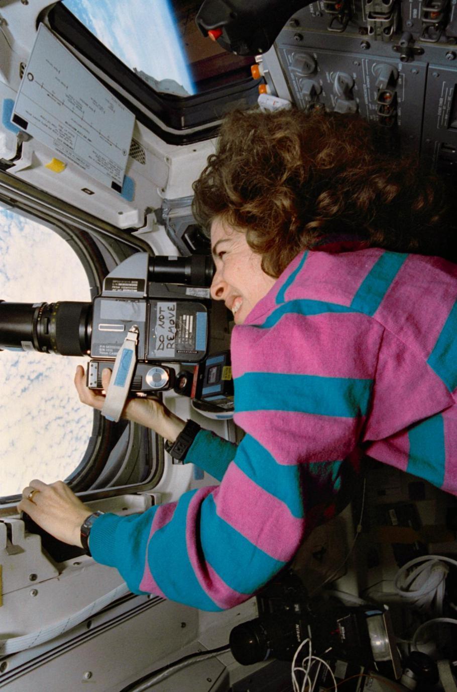 Astronaut Ellen Ochoa aboard the Space Shuttle Discovery