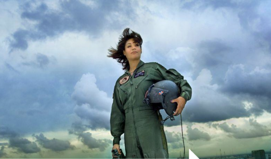 Major Marisol A. Chalas, the first Latina National Guard Black Hawk pilot.