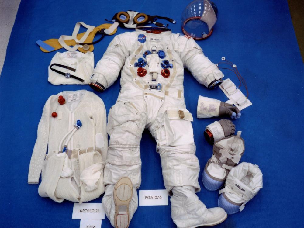 armstrongs pre flight spacesuit