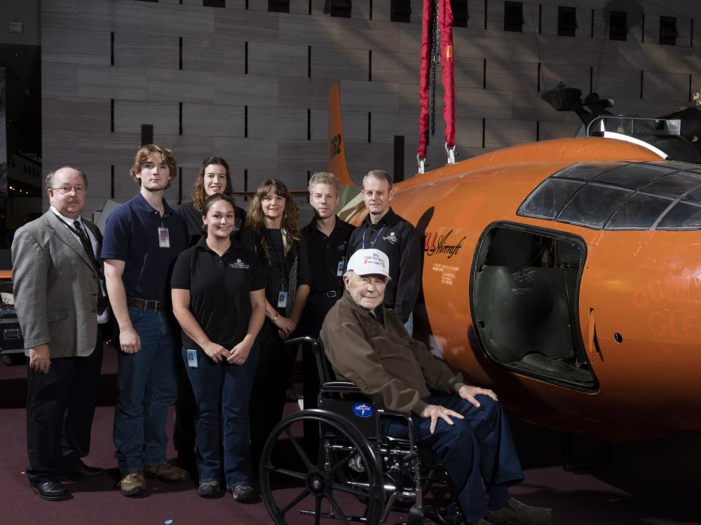 Visit from Chuck Yeager