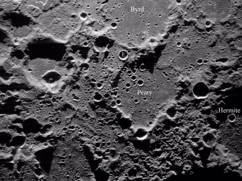 Image of the Moon's North Pole