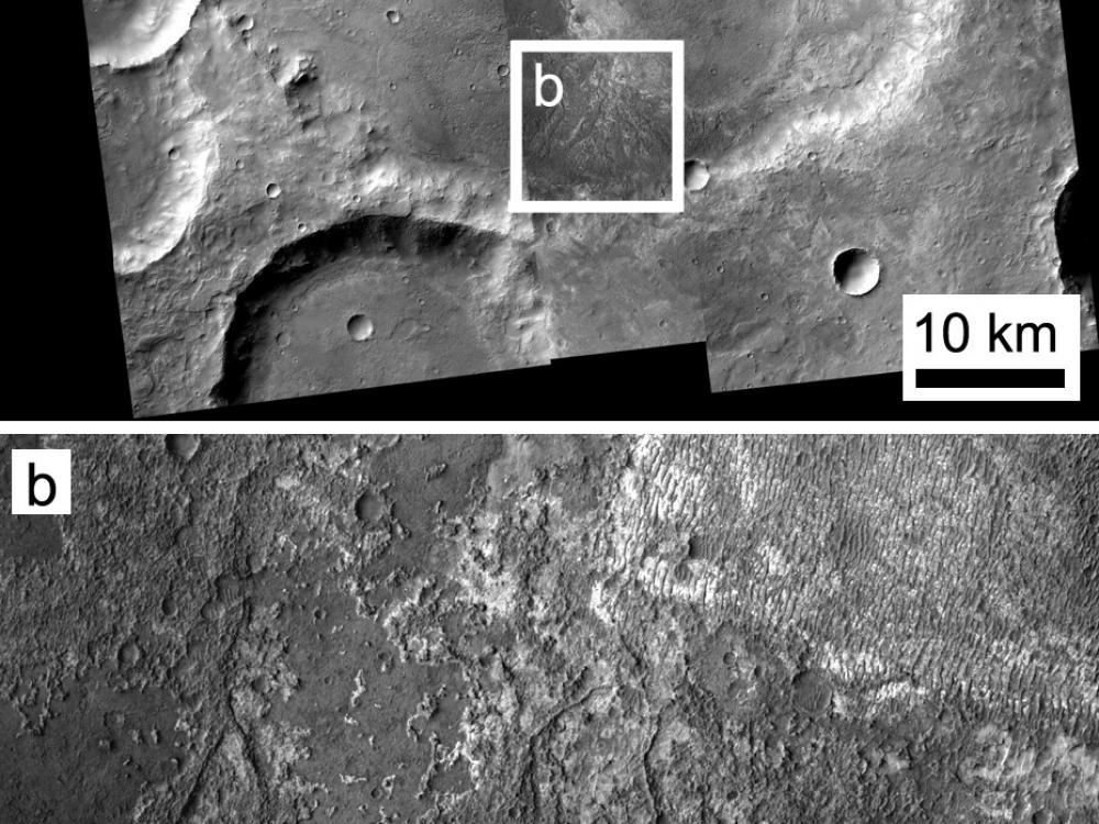 Image of Exposed Layering in Martian Impact Craters
