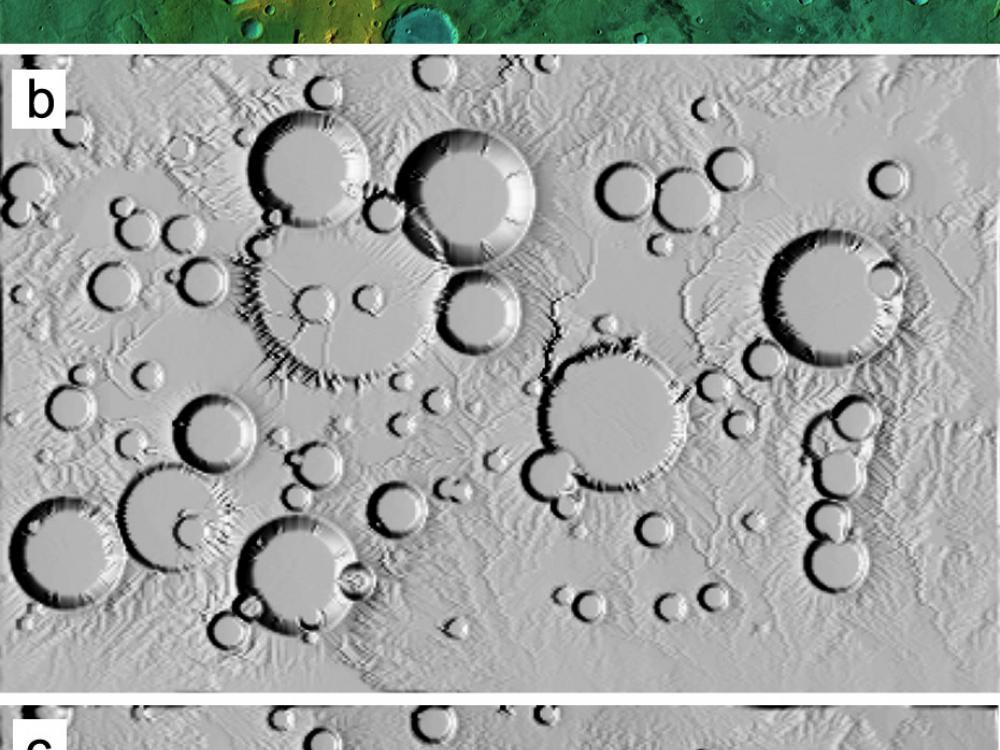 Image of Computer Simulations of Landscape Development on Mars