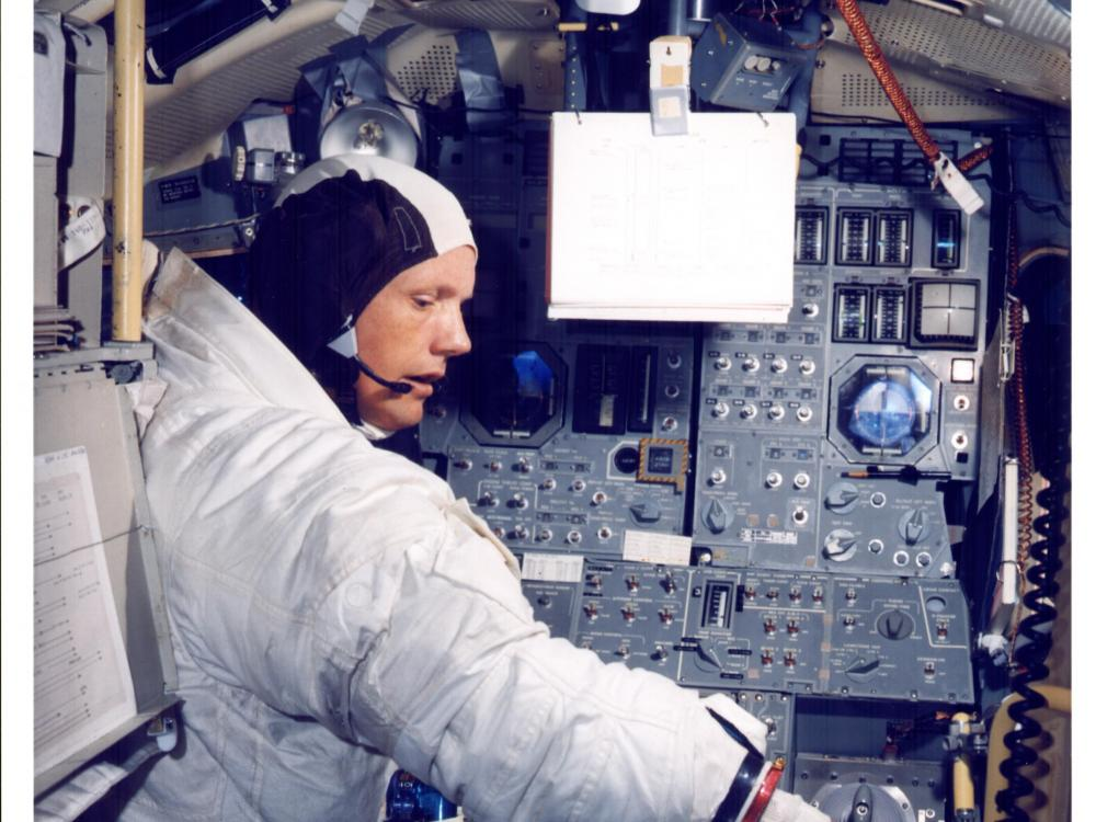 Armstrong in LM Simulator