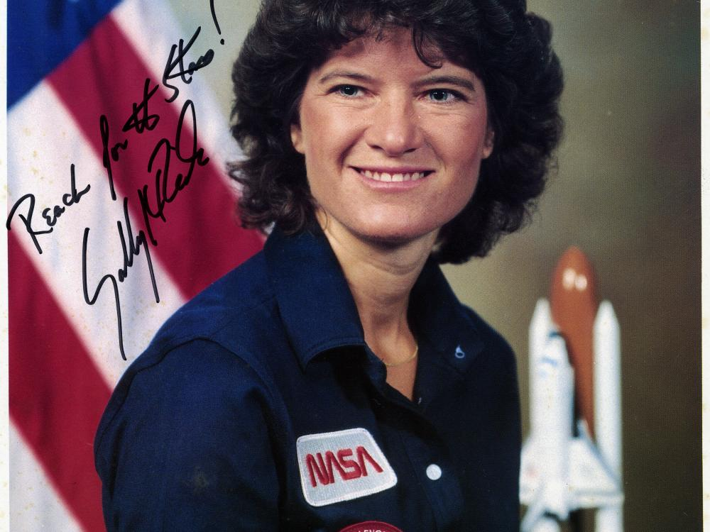 Signed Portrait of Sally Ride