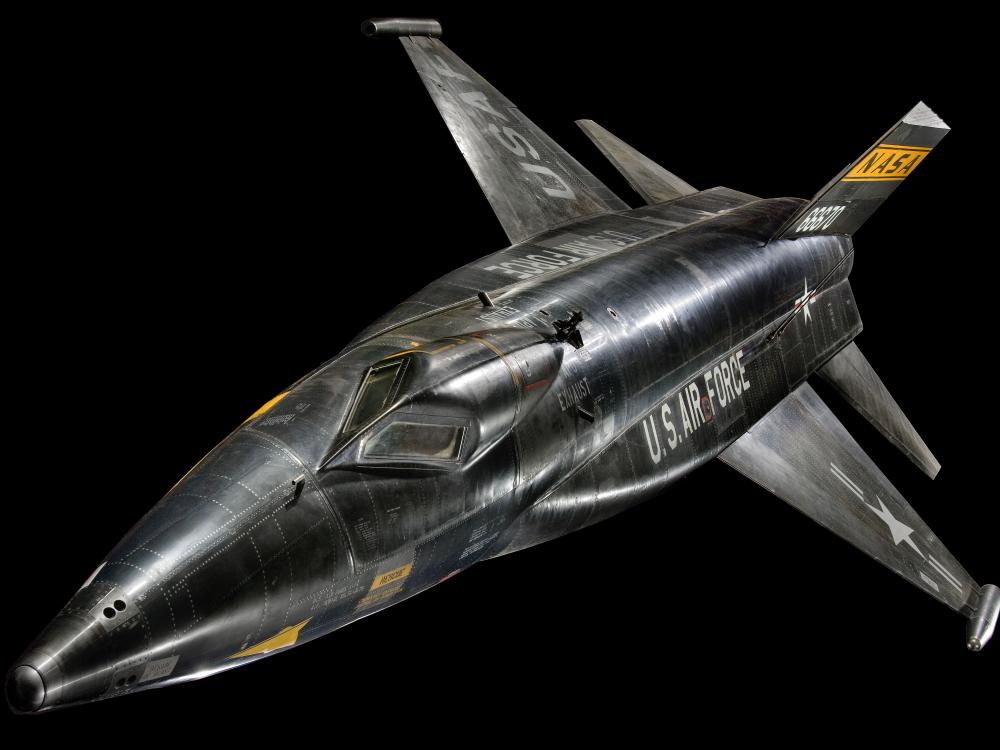 "North American X-15 in the ""Boeing Milestones of Flight Hall"""