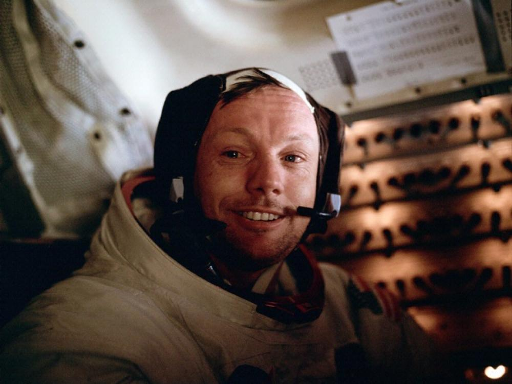 Apollo 11 Mission image - Neil A. Armstrong inside the Lunar Module after E