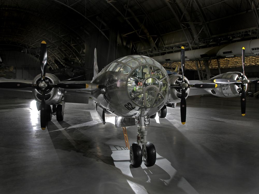 Boeing B-29 Superfortress Enola Gay on display at the Steven F. Udvar-Hazy Center